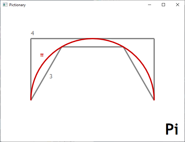 Screen shot of a program Pictionary - Pi