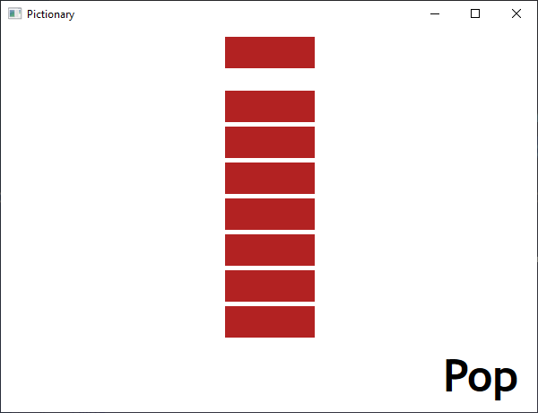 Screen shot of a program Pictionary - Pop