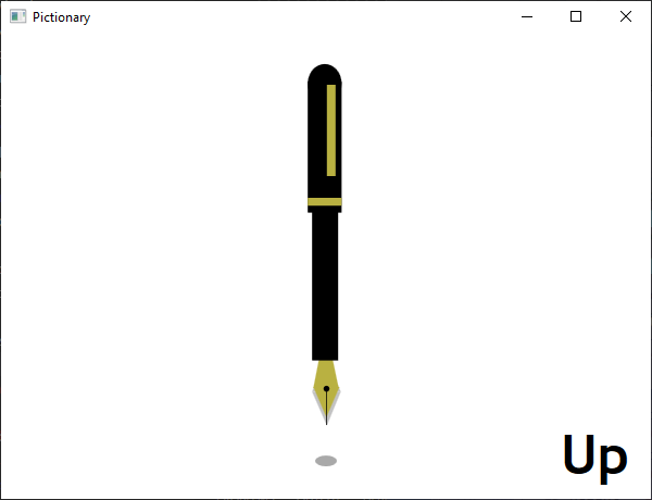 Screen shot of a program Pictionary - Up