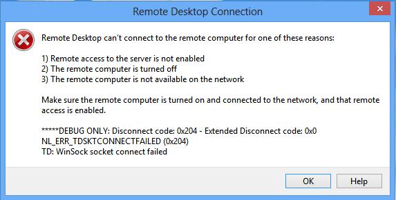 Rdcman Unknown Disconnection Reason 519