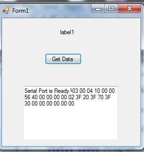convert Hexa to decimal in serial port communication