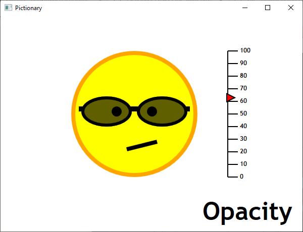 Screen shot of a program Opacity