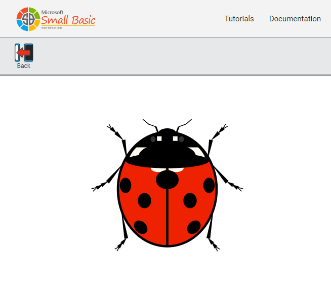 Screen shot of a program Lady Bug 0.2.1 in SBO