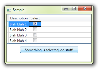 WPF MVVM: how to detect when CheckBox column of DataGrid is
