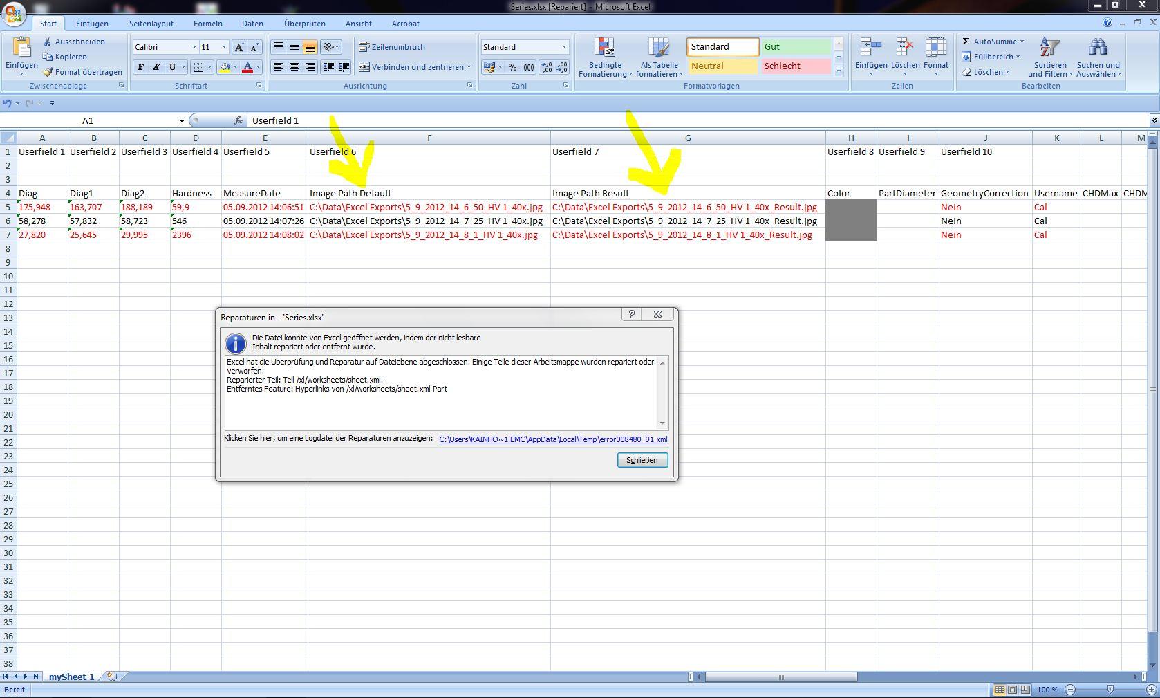 Open XML SDK 2 0 xlsx cell hyperlink works in Excel 2010 but in