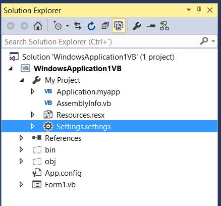 Captura de Solution Explorer
