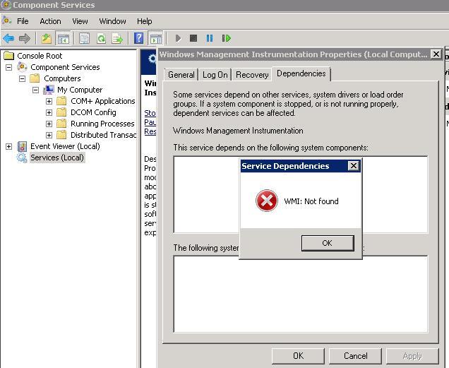 Fix Wmi Error Windows 7