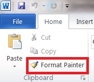 Format Painter in MS Word