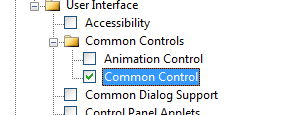 Common Control Checked