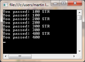 Console Output Results