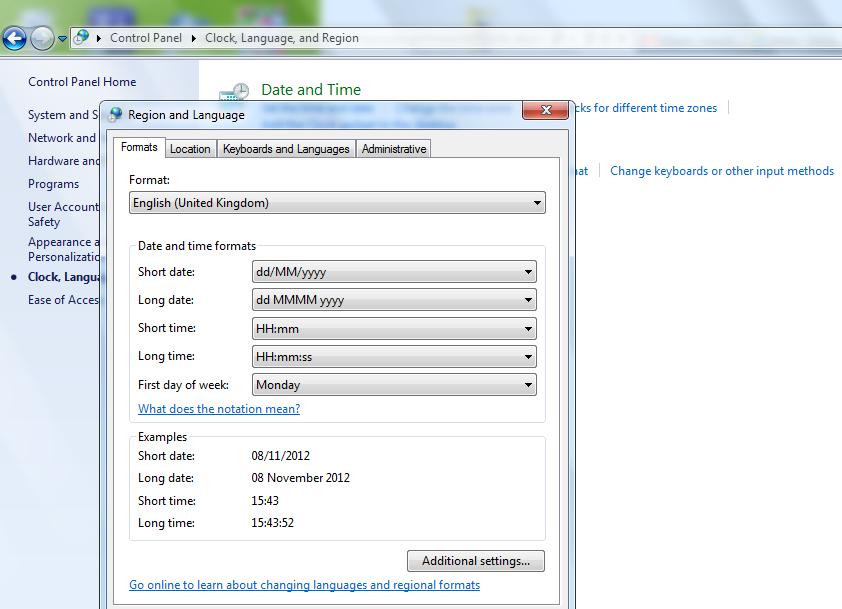 Us english date format sql server