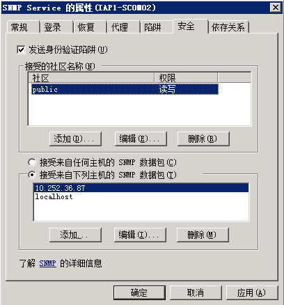 Windows snmp配置