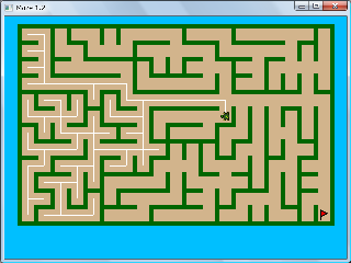 Screen shot of a maze program