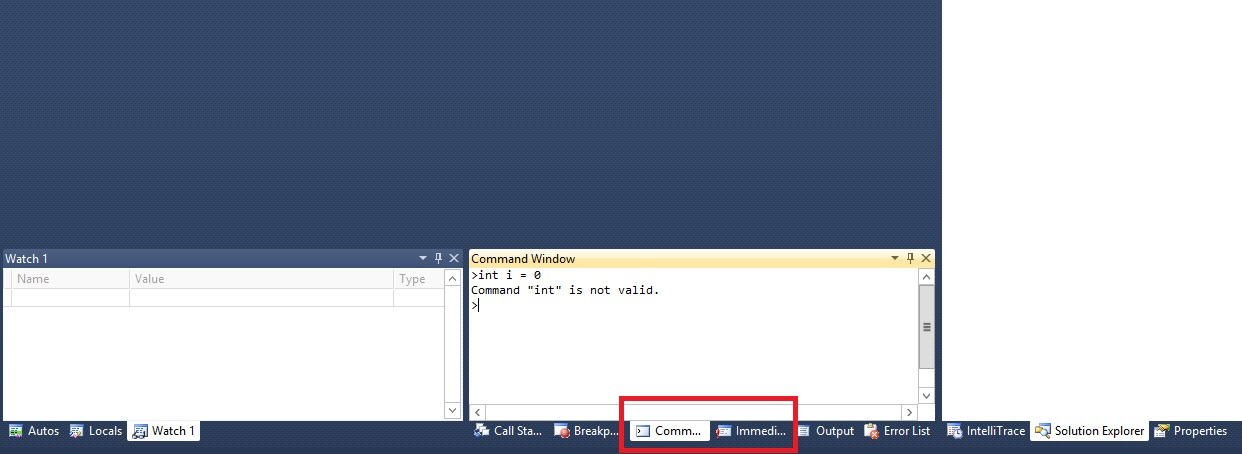 Capture Ecran Visual Studio
