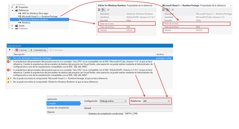 Problema con SQLite en Visual Studio 2012 Profesional