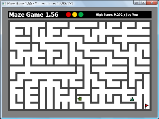 Screen shot of Maze Game 1.56