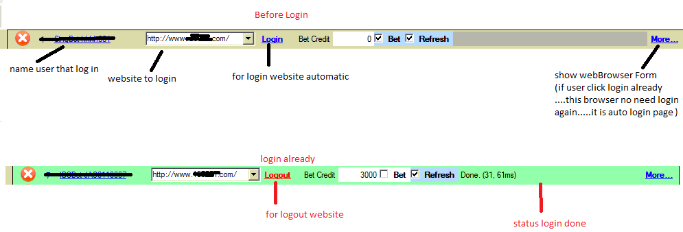 how to login website from WebBrowser Control