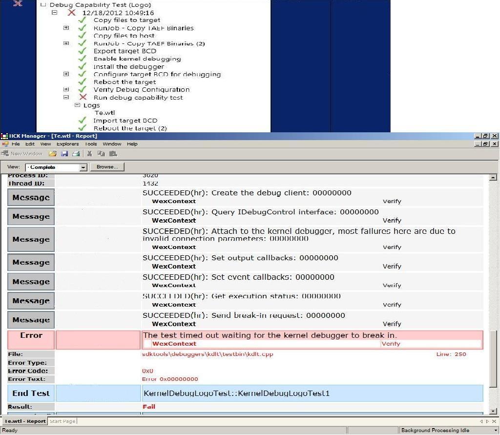 Test capability Process Capability