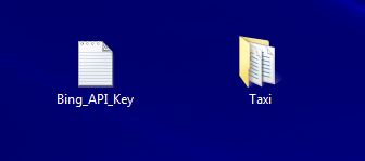 API Key And unzipped taxi file