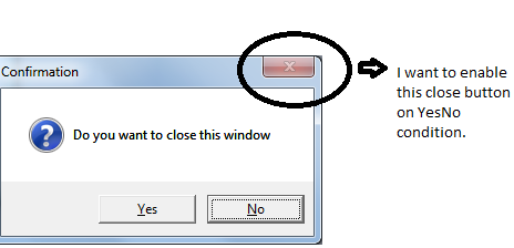 how to close in csharp
