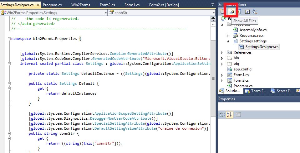 Aficher tous le fichiers dans Visual Studio