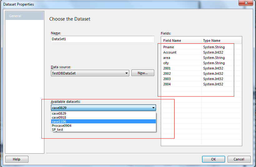 Configure Stored Procedure in RDLC