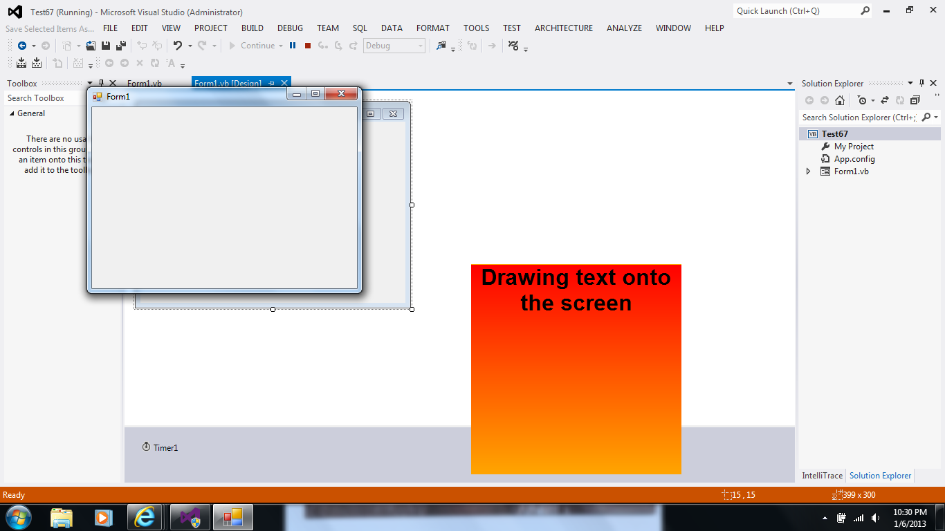 Visual Basic: How to draw on the desktop directly?