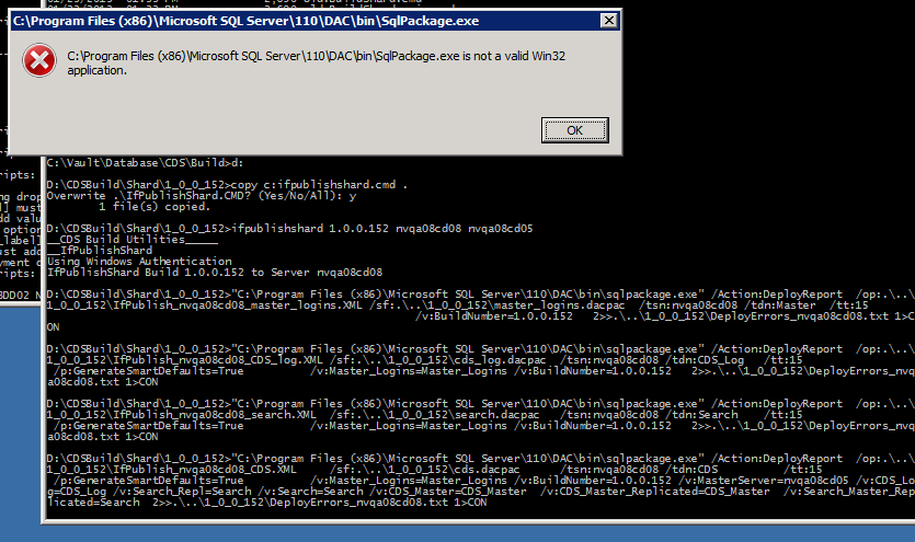 Not a valid Win32 application