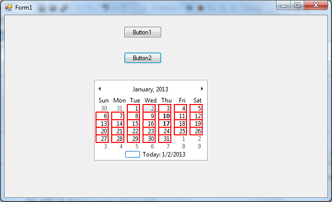 Monthly Calendar Visual Basic : Vb monthview calendar with events