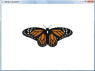 Screen shot of a program Monarch Butterfly 0.1