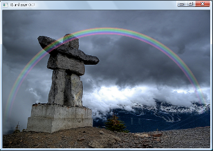 Screen shot of a program Rainbow 0.2