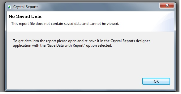 This report file does not contain saved data and cannot be