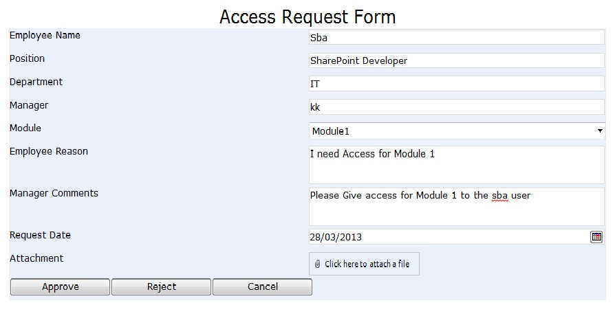 Access Request Approval Workflow Sharpoint
