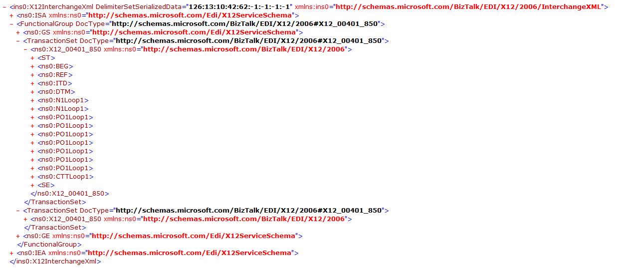 EDI X12 to XML