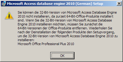 Office 32 Bit error