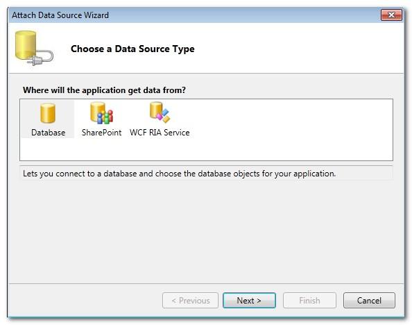 No OData Service option