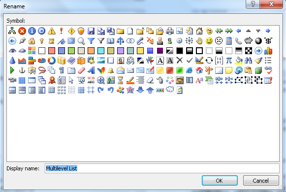 How To Add New Icons For Ribbon In Word 2010