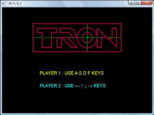 Screen shot of a program TRON 0.2