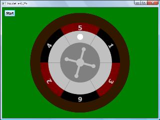 Screen shot of a program Roulette 0.2b