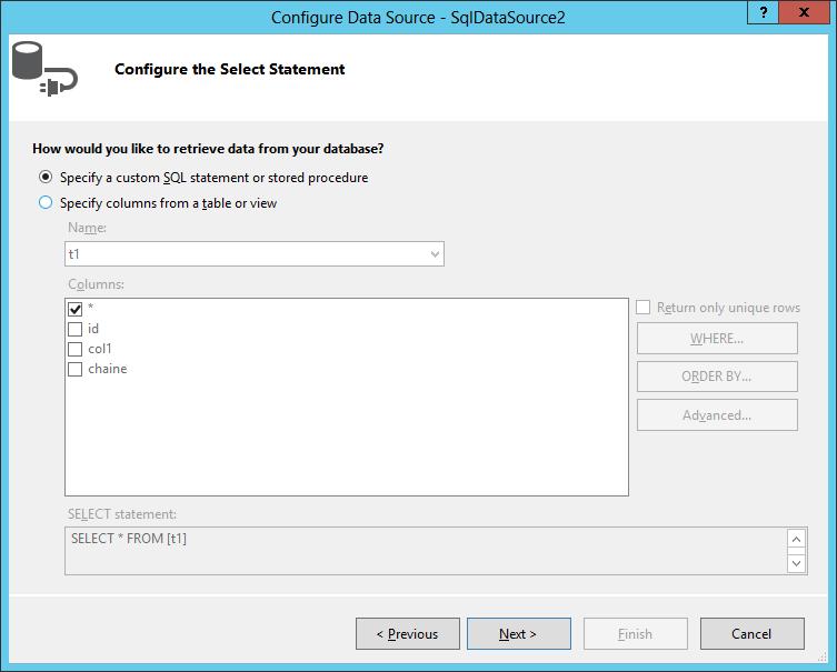 ASP.NET generate Insert/Update/Delete