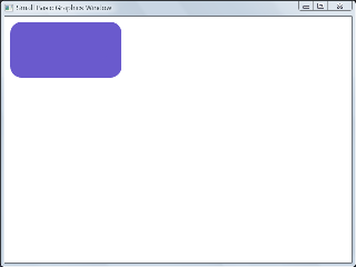 Screen shot of a Small Basic program which draws a round-rectangle.