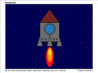 Screen shot of a program Rocket 0.51