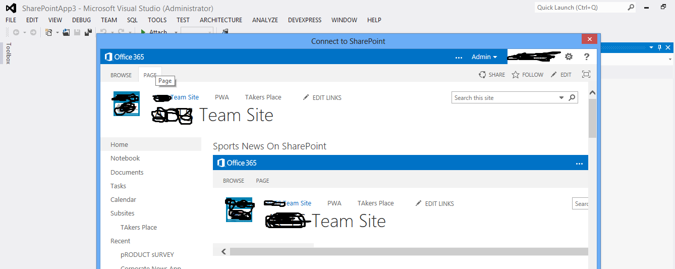 how to create an app for sharepoint online