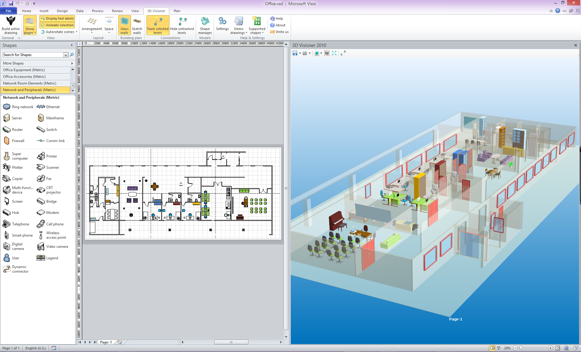 3D for MS Visio 2013 and 2010