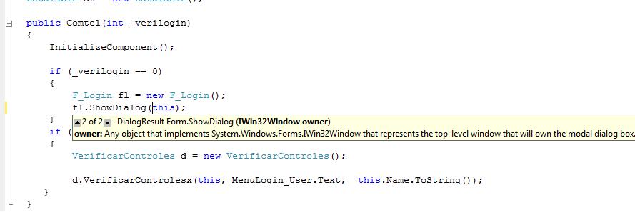 Interface windows ok
