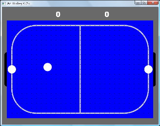 Screen shot of a program Air Hockey 0.2a