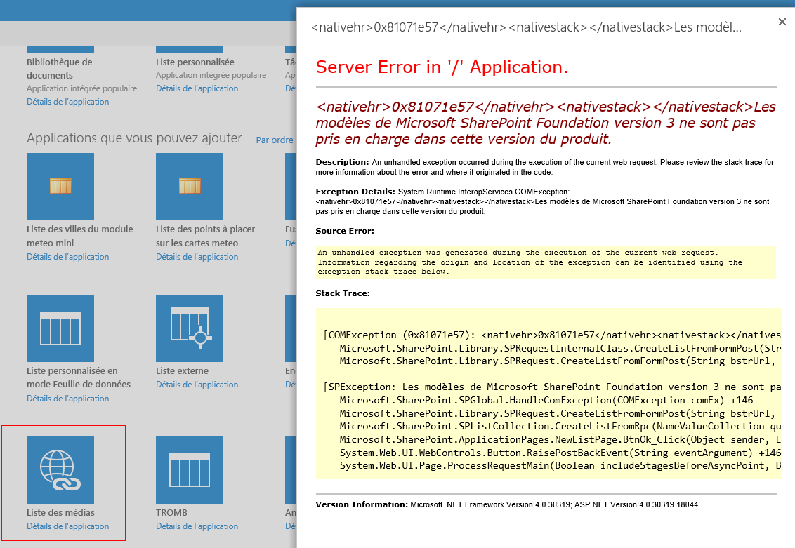 Microsoft SharePoint Foundation version 3 templates are not ...