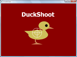 Screen shot of Opening for DuckShoot