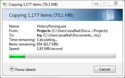 windows copy paste overwrite a file