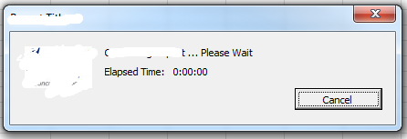 Show Time Elapsed Timer on UserForm While Macros Execute